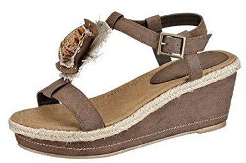 City Walk Sandalette - Sandalias de vestir de cuero de imitación para mujer marrón - marrón