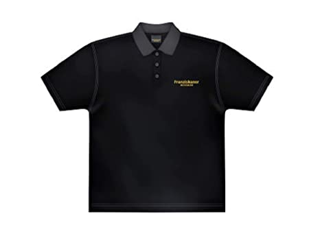 Franziskaner Polo hombre camiseta publicidad de cerveza tamaño XL color negro manga corta