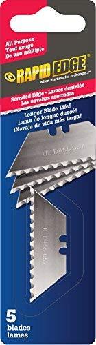 Rapid Edge All-Purpose Rapid Edge Serrated Utility Knife Blades (5 blades) (1 Pack)