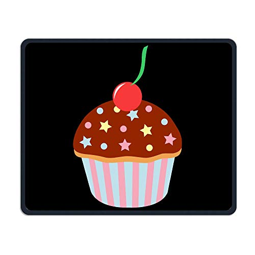 Mouse Pad Cute Birthday Cupcake Clip Art Rectangle Rubber Mousepad Length 11.81 Width 9.84 inch Gaming Mouse Pad with Black Lock Edge for $<!--$9.99-->