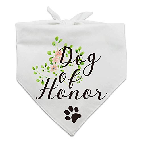 family Kitchen Dog of Honor, Maid of Honor Wedding Dog Bandana, Wedding Photo Prop, Pet Scarf Accessories, Coral Wedding Bandana