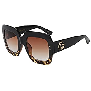 ROYAL GIRL Oversized Square Sunglasses For Women Multi Tinted Frame Brand Designer Fashion Shades (C2, 70)