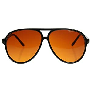 zeroUV - Retro Large Plastic Aviator Sunglasses with Blue Blocking Driving Lens Ditka Hangover Alan Burt Macklin FBI (B)