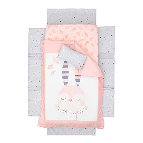 South Shore Furniture DreamIt Pink Doudou the Rabbit 3-piece Baby Crib Bed Set and Pillow by South Shore