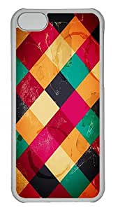 Apple iPhone 5C Cases & Covers - Colorful Diamond Pattern PC Case for Apple iPhone 5C Transparent