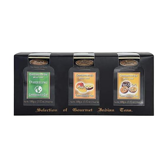 Premiers 3-in-1 Gourmet Gift Set   150 Cups   300 Grams   Loose Teas in Metal Caddy   Darjeeling Black Tea + Mango Flavored Tea + Pass...