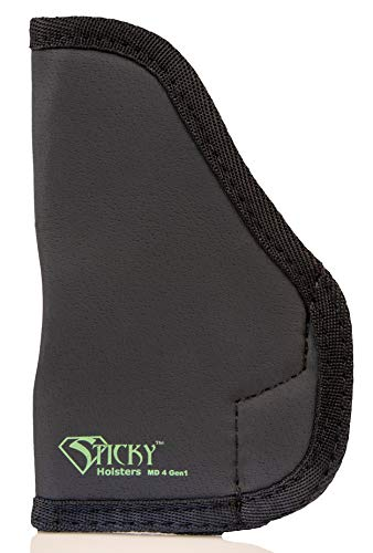 Sticky Holster MD-4-GEN1 - Double Stack Sub Compact (IWB) Holster (Best Pocket Holster For Glock 27)