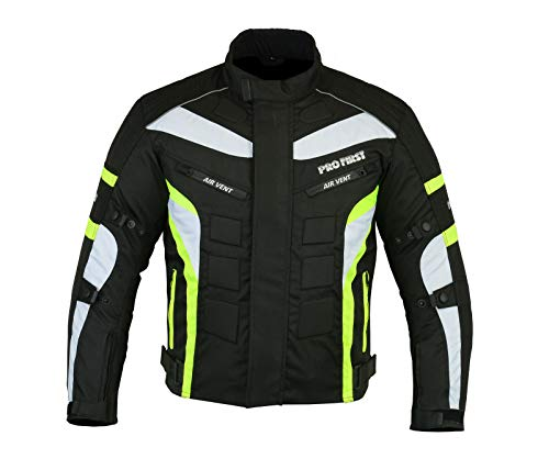 6 Packs Design Most Popular JKT-007 Waterproof Motorbike Motorcycle Jacket in Cordura Fabric and CE Approved Armour Black /& Full Black, Small