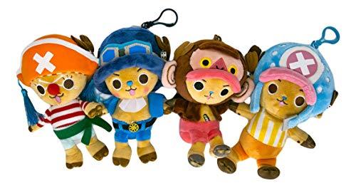 One Piece Toei Animation Tony Tony Chopper Costume Small Plush Toy Set of 4 Trafalga Law Sanji Buggy Sabo