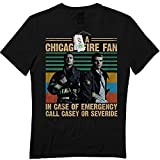 I'm A Chicago Firefighters Fans Vintage Mens Fireman Retro PN9 T-Shirt Black