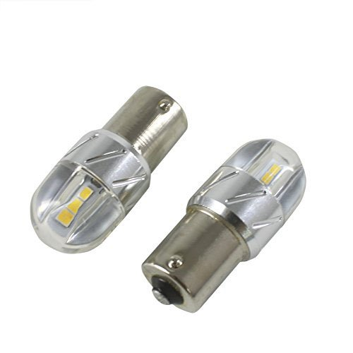 2X680 Lumens 1156 1141 1003 3030 6SMD Led Light Bulb Use for Back Up Reverse Lights,Tail Lights,Rv lights White