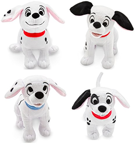 Disney Store 101 Dalmatians Plush Mini Bean Bag Bundle of 4: Patch, Penny, Lucky, Rolly