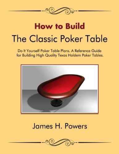 How to Build the Classic Poker Table Do it Yourself Poker Table - Build Table How To Poker A