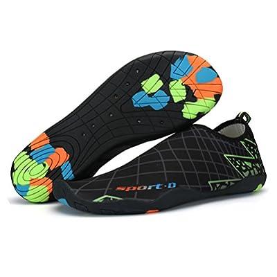 ASLISA Mens Womens Water Shoes Swim Shoes Aqua Socks Beach Shoes Yoga Socks Slip-on with Drainage Holes