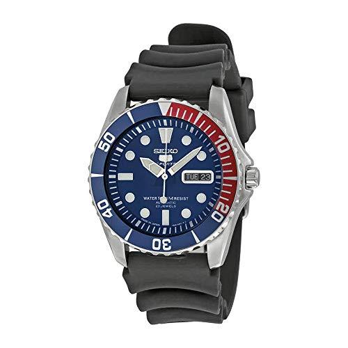 - Seiko Men's SNZF15J2 Series 5 Rubber Strap Watch