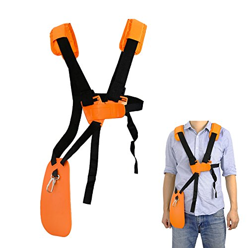 SunMon Trimmer Shoulder Strap - Mower Trimmer Harness Strap Double Shoulder with Durable Nylon Belt Adjuestable for Brush Cutter or Gardenning (for STIHL FS, KM Series String Trimmer) Weedeater Replacement Belt