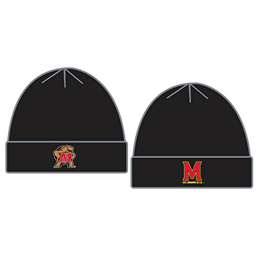 Top of the World Maryland Terrapins Official NCAA Knit Youth Tow Cuffed Beanie Stocking Stretch Sock Hat Cap 096780