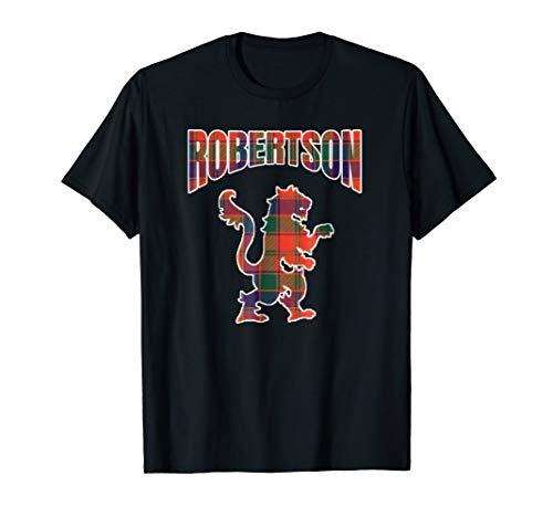 - Robertson Clan Kilt Tartan T-Shirt Lion Namesake Scottish