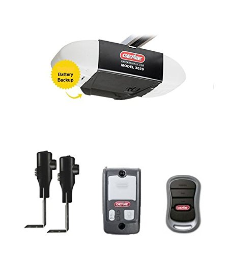 - Genie Garage Door Opener 3020H-B ReliaG ProSeries Power DC Motor System With Soft Start & Stop, Includes 3-Button Remote, Safety Beams, Wall Console, Battery Backup (Head & 7' Belt Rail)
