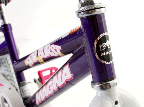 Dynacraft Magna Starburst Girls BMX Street/Dirt Bike 16'', Purple/White/Pink by Dynacraft (Image #4)