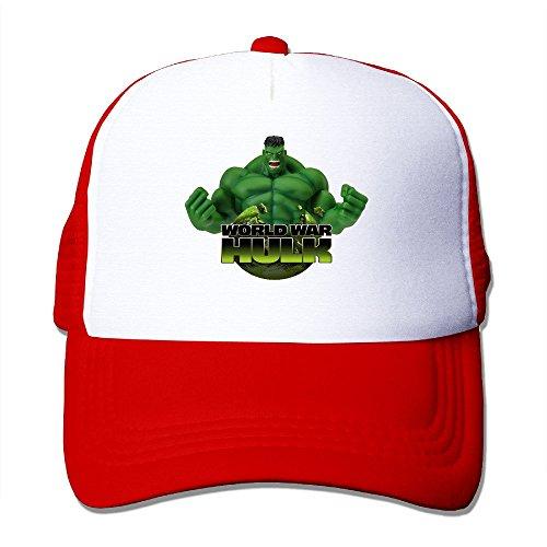 Cool The Incredible Hulk Trucker Cap Baseball Hat (5 Colors) Red