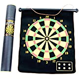 """Travel (Easy Carry """"Cylindrical Box"""")-Magnetic Roll-up Dart Board and Bullseye Game with Darts by C&H Solutions"""