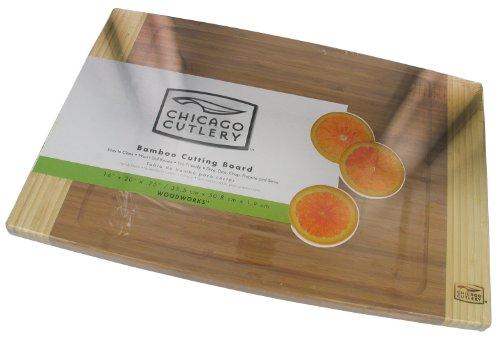 Chicago Cutlery Woodworks Bamboo Cutting Board (14-Inch x -