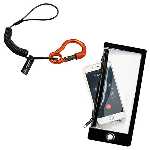 Cell Phone Tethering Kit, Includes Water Resistant Zippered Phone Sleeve & Tethering Lanyard, Ergodyne Squids 3195 (Best Smartphone For Tethering)