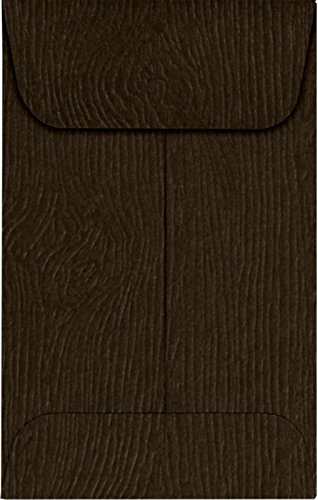 #1 Coin Envelopes (2 1/4 x 3 1/2) - Teak Woodgrain (1000 Qty.) | Perfect for the HOLIDAYS, Weddings, Parties & Place Cards| Fits Small Parts, Stamps, Jewelry, Seeds | 1COS03-1M by Envelopes.com (Image #2)