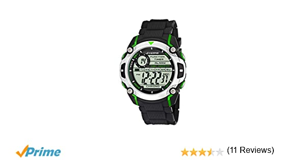 Calypso watches - Reloj digital de cuarzo para niño con correa de caucho, color negro: Amazon.es: Relojes