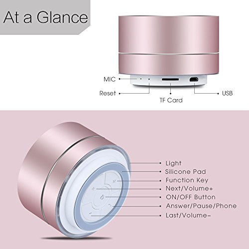 A2 LENRUE Portable Wireless Bluetooth Speaker with Built-in-Mic,Handsfree  Call,AUX Line,TF Card,HD Sound and Bass for iPhone Ipad Android Smartphone
