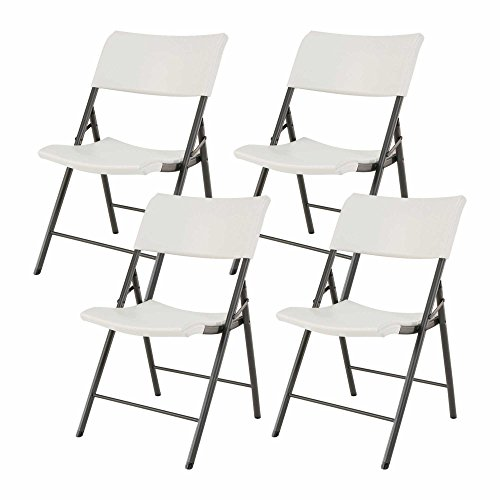 Outdoor Plastic Folding Chair (Lifetime Light Commercial Contemporary Plastic Folding Chair, Almond (4 Pack))