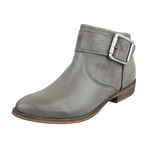 Ital-Design - Botas Chelsea Mujer gris claro