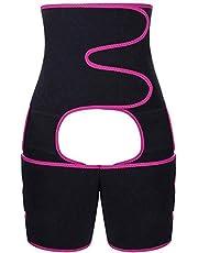 Taille Trainer for Women 3-in-1 dij en taille Trainer Belt Butt Lifter voor gewichtsverlies en verbeter Shape Fitness Afslanken Body Shaper,Rose red,XL