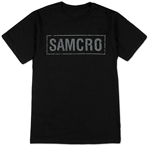 Sons of Anarchy Samcro Banner T-shirt ,Black ,XX-Large (Sons Of Anarchy Shirt)