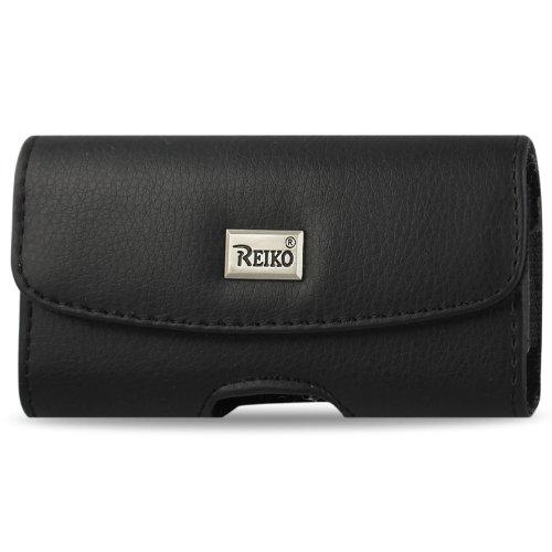 Lx260 Scoop - Reiko Horizontal Pouch for LG RUMOR, LX260, Scoop,UX260 - Retail Packaging - Black