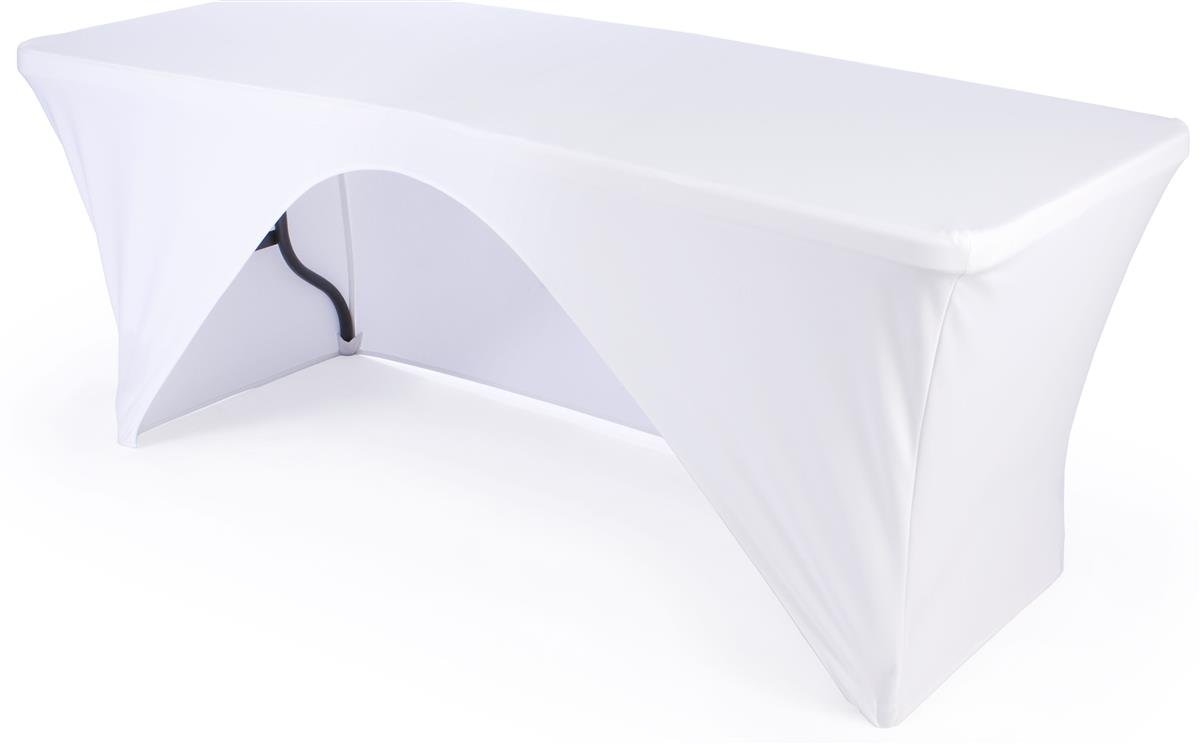 Amazon Displays2go Open Back Design Stretch Table Cover for 6