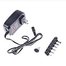 Vanpower 30W 3-12V Universal Muti Voltage AC/DC Adapter Switching Power Supply Adjustable Converter Charger Power Adapter with 6 Selectable Adapter Plugs