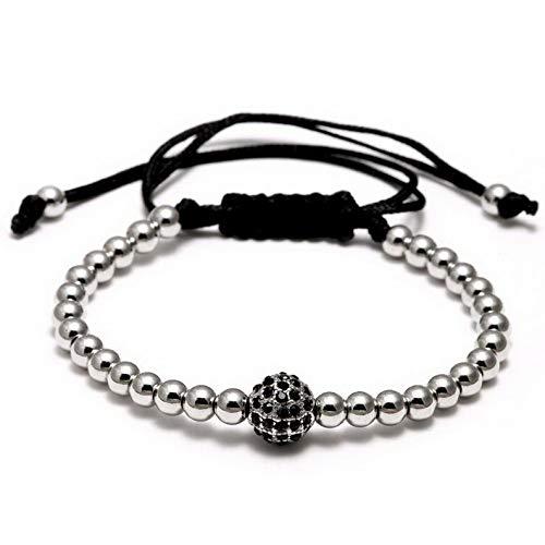 Mikash Hand-Woven Crystal Braided Bead Adjustable Bracelet Women Men Unisex Jewelry New | Model BRCLT - 12199 | ()