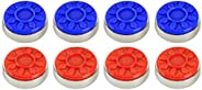 GS Shuffleboard Pucks for Pro Shuffleboard Table, Set of 8, Red and Blue