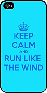 Keep Calm And Run Like the Wind-Hard Black Plastic Snap - On Case-Apple Iphone 5 - 5s - Great Quality!