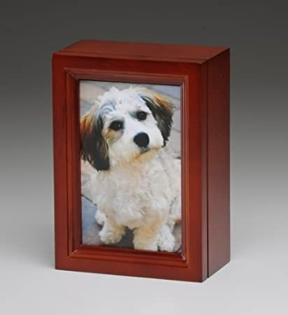 Amazoncom Pet Urn Cherry Photo Frame Pet Cremation Urn With 4 X