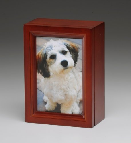 Pet Urn Cherry Photo Frame Pet Cremation Urn with 4