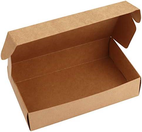 Kurtzy Kraft Papel Cajas de Regalo (Pack de 10) -19 x 11 x 4,5cm Marrón Cajas de Presentación en Empaque Plano para Fiestas, DIY, Bodas, Pasteles, Joyas - Cajas del favor Regalos