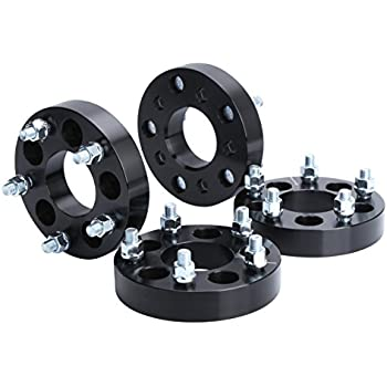 Wheel Adapters for Jeep JK Wheels on TJ YJ KK SJ XJ MJ, KSP 5X4.5 to 5x5 Wheel Adapters 1/2 Thread Pitch Change Bolt Pattern 71.5mm Hub Bore Thickness 1.25