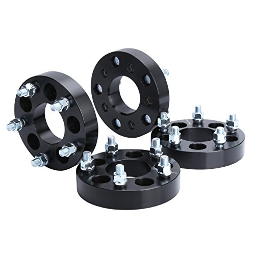 "Wheel Adapters for Jeep JK Wheels on TJ YJ KK SJ XJ MJ, KSP 5X4.5 to 5x5 Wheel Adapters 1/2 Thread Pitch Change Bolt Pattern 71.5mm Hub Bore Thickness 1.25"", 2 Years Warranty"