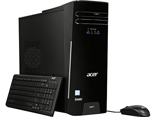 2018 Acer High Performance Desktop PC, Intel Core i5 7th gen Quad Core (3.0 Ghz) processor, 256GB SSD, 8GB DDR4, DVDRW, 802.11ac WiFi, HDMI, VGA, , Windows 10, includes Mouse and keyboard