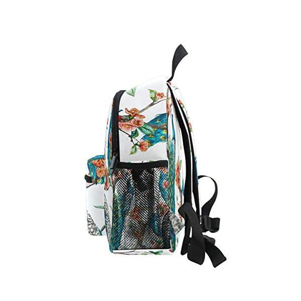 Peacock Animal Zaino Scuola Multi Carino Bookbags per la Scuola Ragazzi e Ragazze Ragazze Ragazzi Borse Bambini Viaggio… 4 spesavip