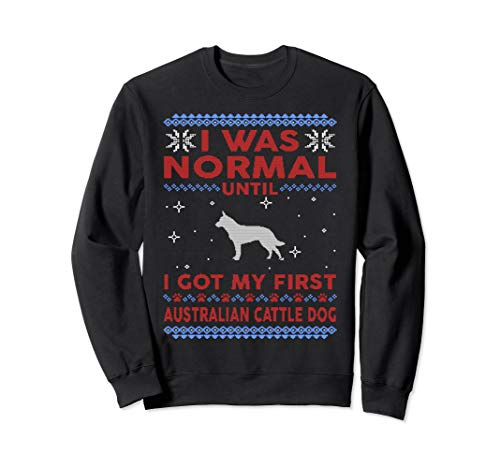 Australian Cattle Dog Ugly Christmas Sweater Pullover Jumper ()