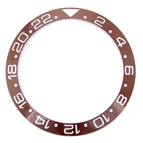 38.0MM Bezel Insert to Fit Rolex GMT - Brown/White Ceramic ()